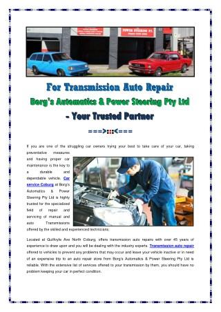 Transmission Auto Repair