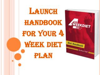 4 week diet and exercise plan