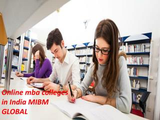 Online mba colleges in India online MBA