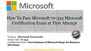 {New} Real Microsoft 70-334 Question Answers | 70-334 Pdf Dumps