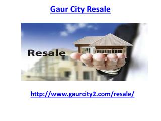3 BHK Units in Gaur City Greater Noida West