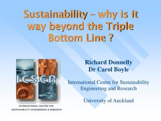 Sustainability – why is it way beyond the Triple Bottom Line ?