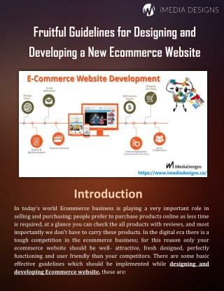 Fruitful Guidelines for Designing and Developing a New Ecommerce Website