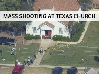 Texas church holds first service since mass shooting