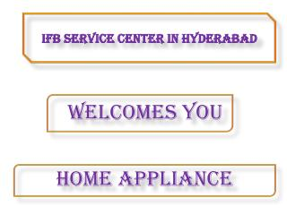 IFB Service center in Hyderabad Telangana