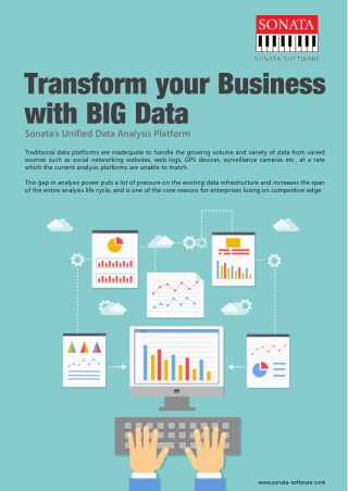 Transform your business' big data with Sonata's Unified Data Analytics Platform for Big Data