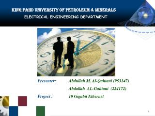 King Fahd University of Petroleum & Minerals ELECTRICAL ENGINEERING DEPARTMENT