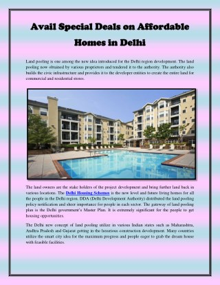 Avail Special Deals on Affordable Homes in Delhi