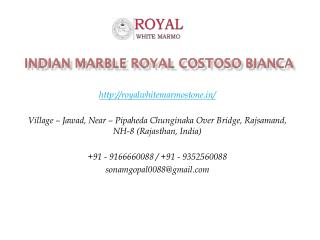 Indian Marble Royal Costoso Bianca