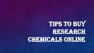 Think Before Buying Research Chemicals Online