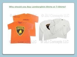 Buy Lamborghini Shirts or T-Shirts