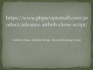 Airbnb Clone, Airbnb Script, Rental Booking Script
