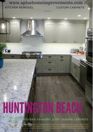 Huntington Beach complete kitchen remodel