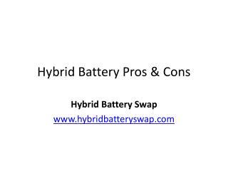Hybrid Battery Pros & Cons