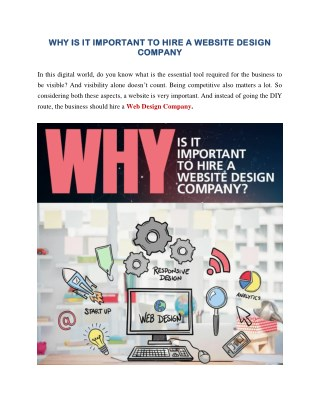 Why Is It Important To Hire A Website Design Company