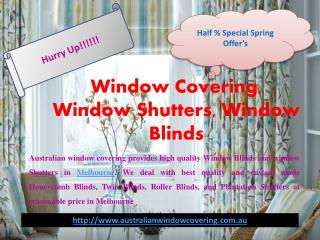 Window Blinds | Window Shutters | Window Covering