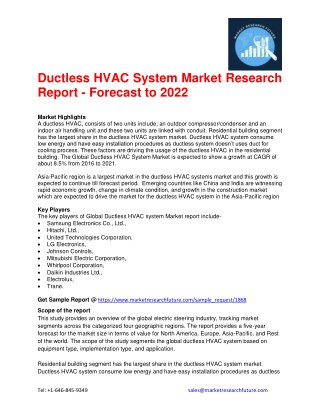 Ductless HVAC System Market Research Report - Forecast to 2022
