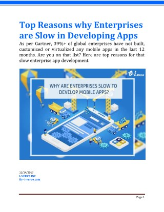 Why Are Enterprises Slow In Developing Mobile Apps, Despite The Demand?