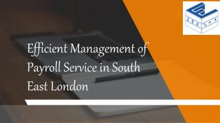 Efficient Management of Payroll Service in South East London