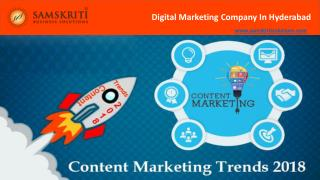 Content Marketing Trends to Watch for in 2018   Samskriti Solutions