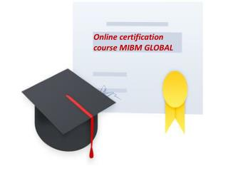 Online certification course like Six Sigma Green belt