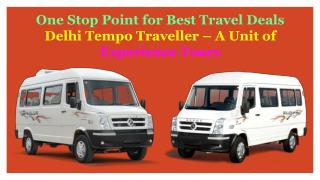 Book Tempo Traveller on Rent in Delhi PPT