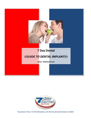 7 Day Dental - Guide to Dental Implants