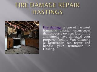Fire Damage Repair Hastings