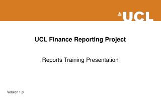 UCL Finance Reporting Project