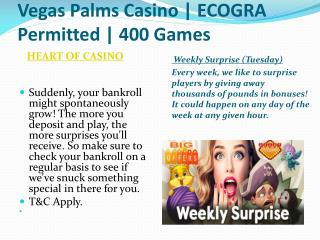 Vegas Palms Casino | ECOGRA Permitted | 400 Games