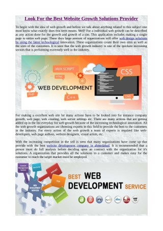 Look For the Best Website Growth Solutions Provider.pdf