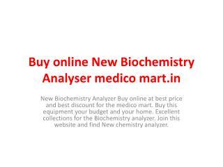 Buy Biochemistry Analyser New For Sale Online