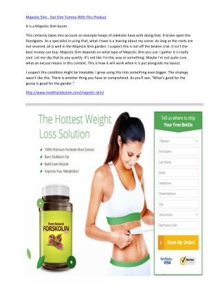 Majestic Slim - Its Very Simple way To Get Slim Tummy With This Product