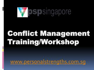 Conflict Management Training/Workshop - personalstrengths.com.sg