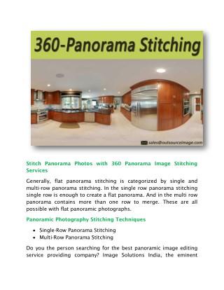 Stitch Panorama Photography-Advanced 360 Panorama Stitching