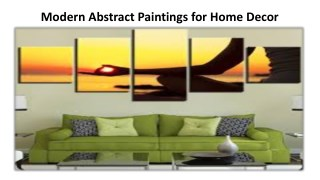 Modern Abstract Paintings for Home Decor