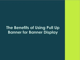The Benefits of Using Pull up Banner for Banner Display