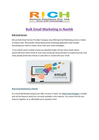 Bulk Email Marketing in Nashik