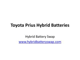 2nd Generation Toyota Prius' Battery