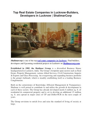 Property Builders in Lucknow | ShalimarCorp