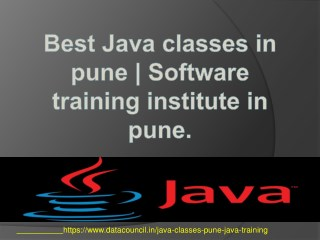 Best Java classes in pune | Software training institute in pune.