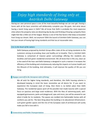 Antriksh Delhi Gateway