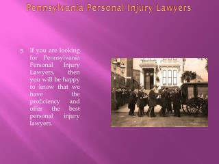 Injury Attorney Pennsylvania
