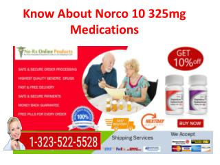 Buy Norco 5 325 mg Tablets Online on Low Price, Cost
