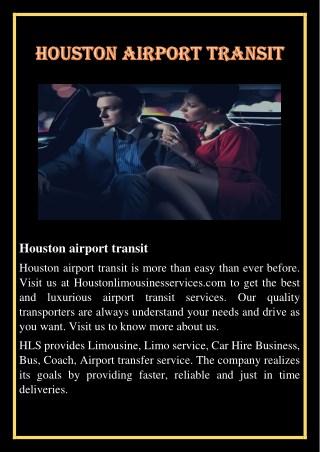 Houston airport transit