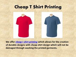 Cheap T Shirt Printing | Custom Screen Printed T Shirts