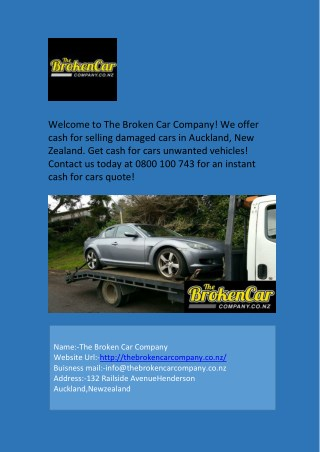 Professional Car Removals for Cash in West Auckland