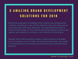 Amazing Brand Development Solutions