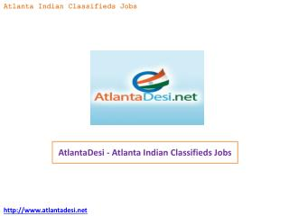 AtlantaDesi - Atlanta Indian Classifieds Jobs