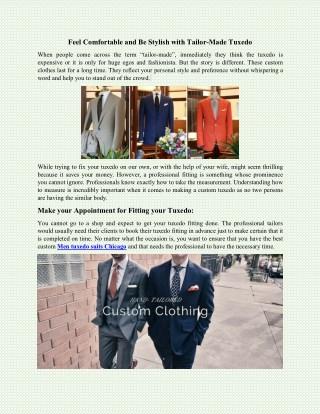Book a men tuxedo suits designer in Chicago
